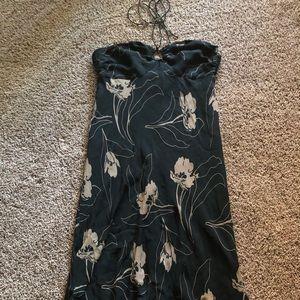 J. Crew silk floral halter dress